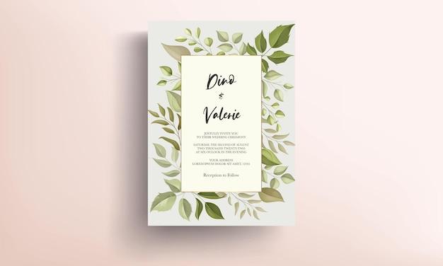 Элегантный дизайн шаблона свадебного приглашения Premium векторы