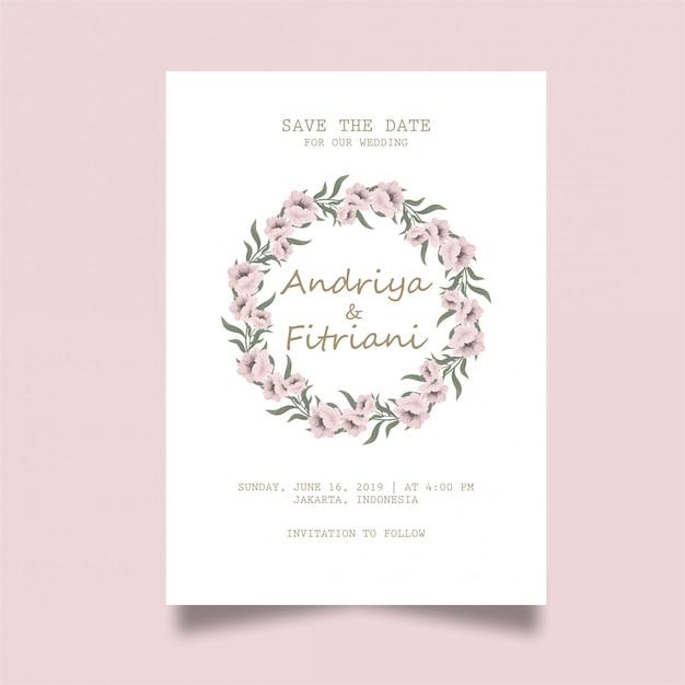 Elegant wedding invitation card Premium Vector
