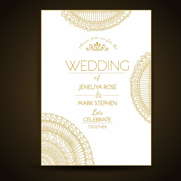 Elegant Wedding Invitation Template Vector Free Download