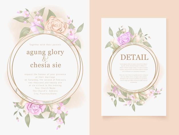 Premium Vector Elegant Wedding Invitation Templates Free Download