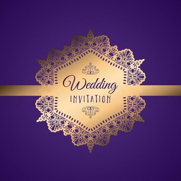 Elegant wedding invitation with a golden label vector free download elegant wedding invitation with a golden label free vector stopboris Images