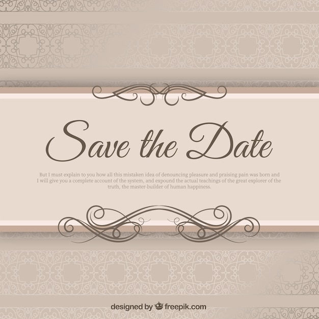 elegant wedding invitation with ribbond vector free download