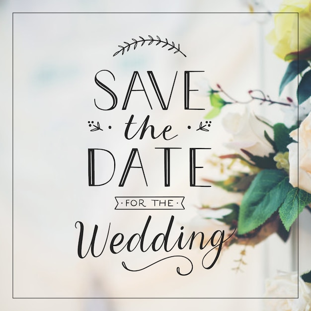 Elegant wedding invitation Vector   Free Download