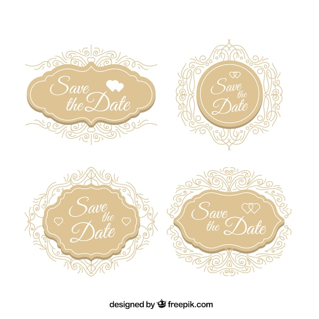 Elegant wedding labels with classic style