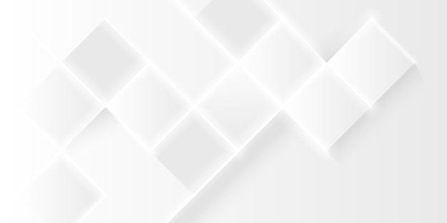 Элегантный белый многоугольник Бесплатные векторы