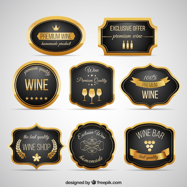 Elegant wine badges