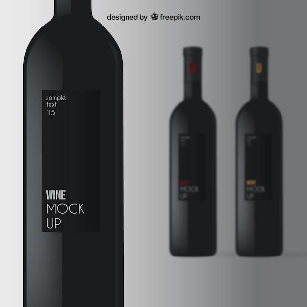 Elegant wine mockup Free Vector