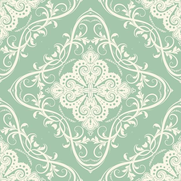 装飾的なシームレスなタイルパターンでエレガント 無料ベクター