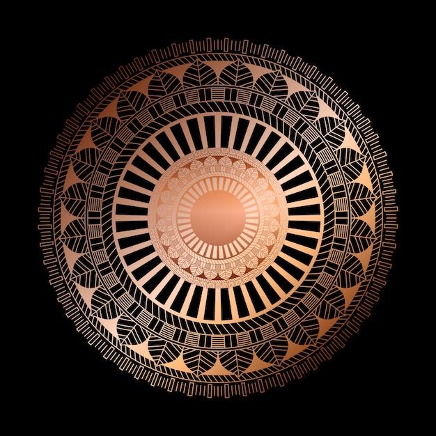 Elegant with a decorative mandala design Free Vector