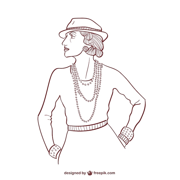 Elegant woman outline
