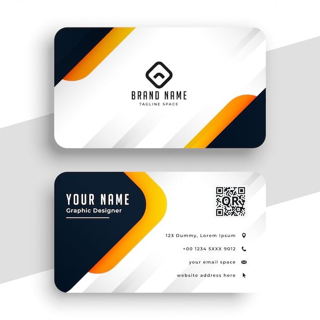 Elegant yellow modern business card template Free Vector