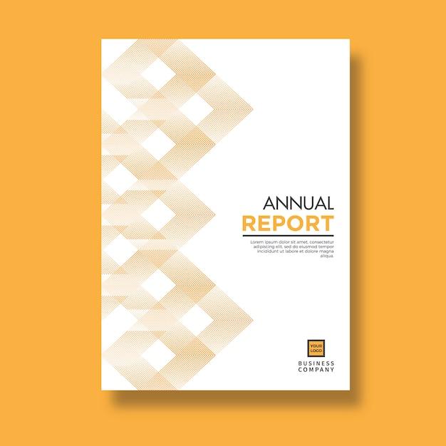 Elegant yellow pattern design annual report Premium Vector