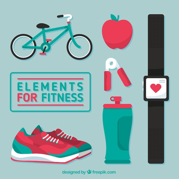 Elements for fitness pack Free Vector