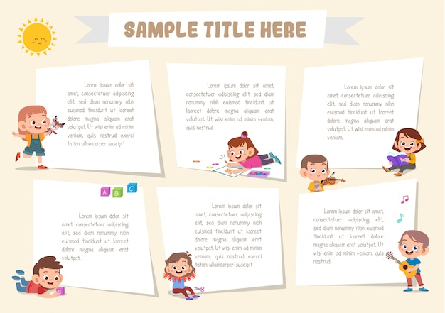 Elements for notebook template Premium Vector