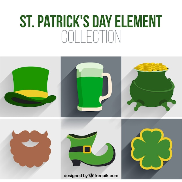 Elements of the saint patrick celebration