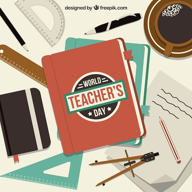 Elements of the school, world teachers ' day