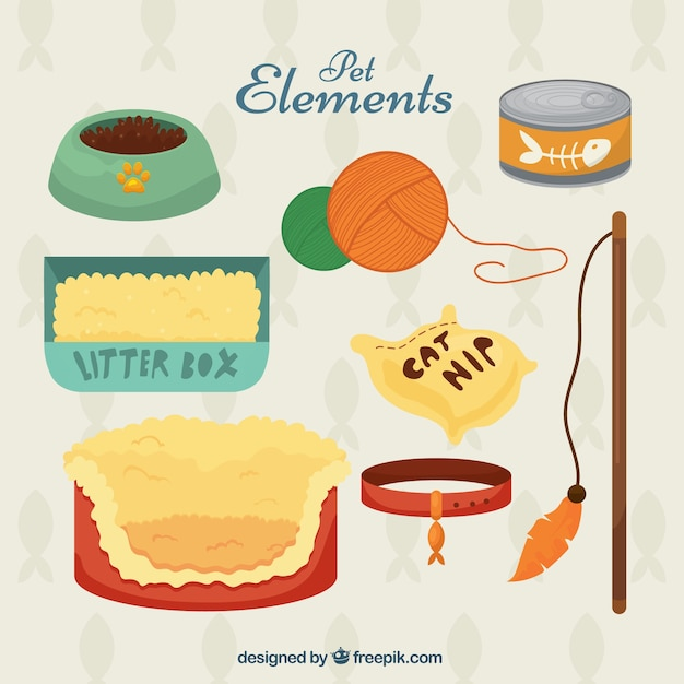 Elements for pet Free Vector
