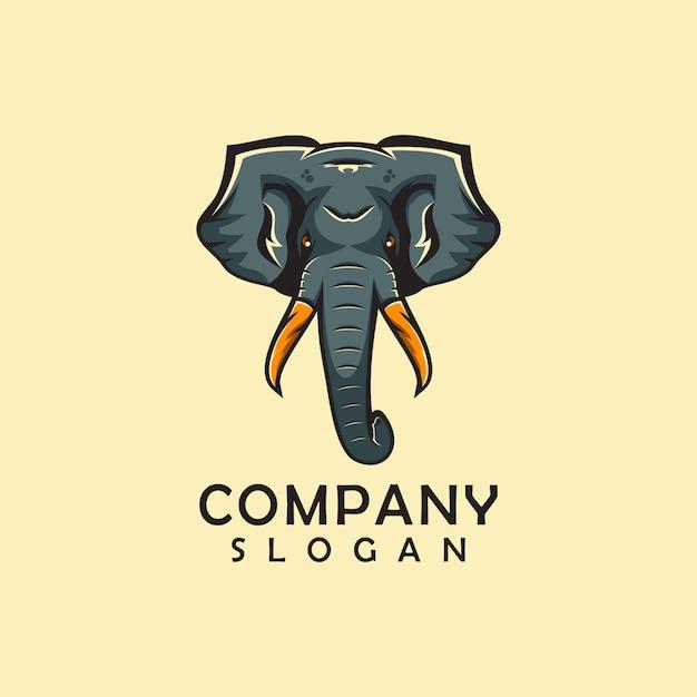 Elephant animal logo Premium Vector
