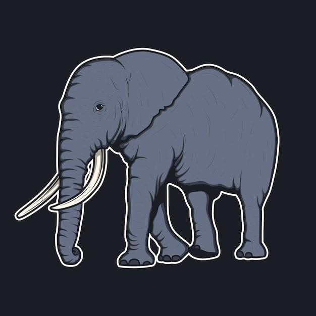 Elephant background design Free Vector