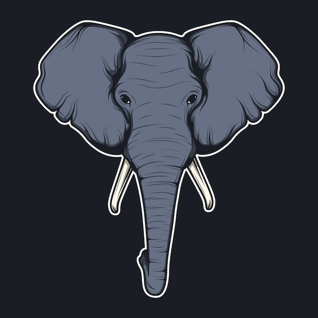 Elephant head background Free Vector