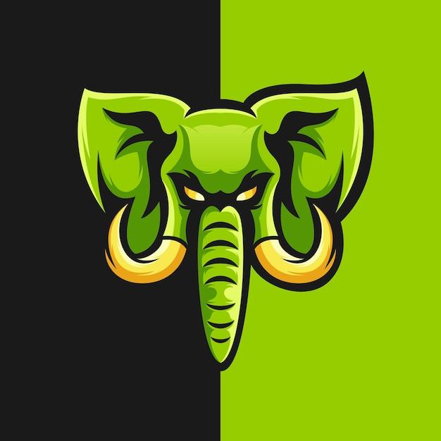 Elephant logo design vector illustration Premium Vector
