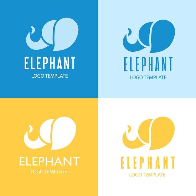 Elephant logo design. Free Vector