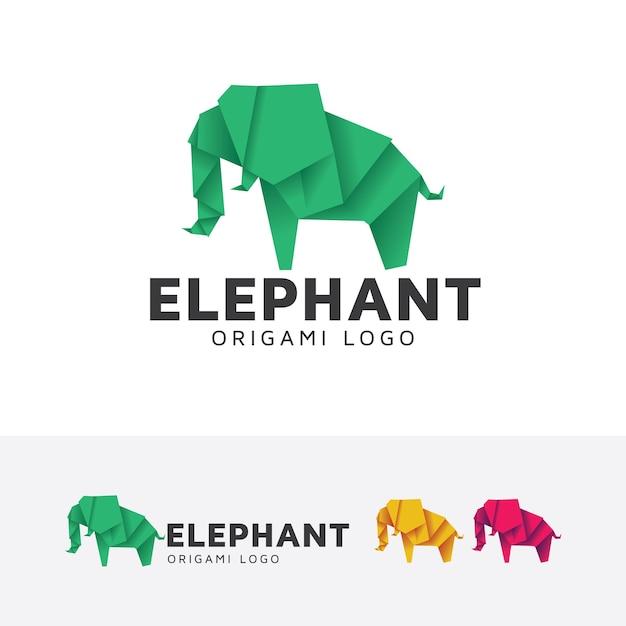 Elephant Origami Logo Template Vector Premium Download