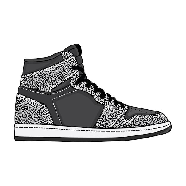 Elephant print sneakers Premium Vector