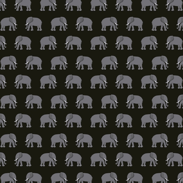 Elephant silhouette asian icon Premium Vector