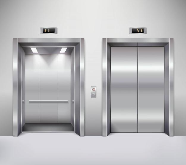 엘리베이터 문 그림 무료 벡터