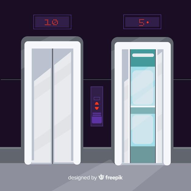 Elevators set Free Vector