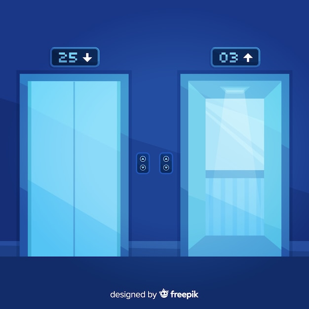 Elevators set Free Vector