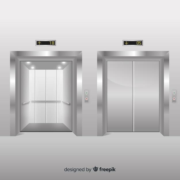 Set di ascensori Vettore gratuito