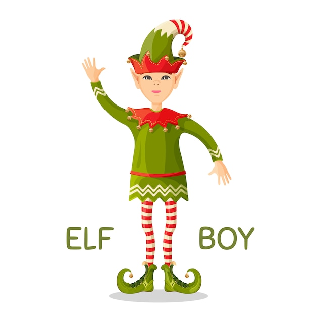 Elf boy human-shaped supernatural male Premium Vector