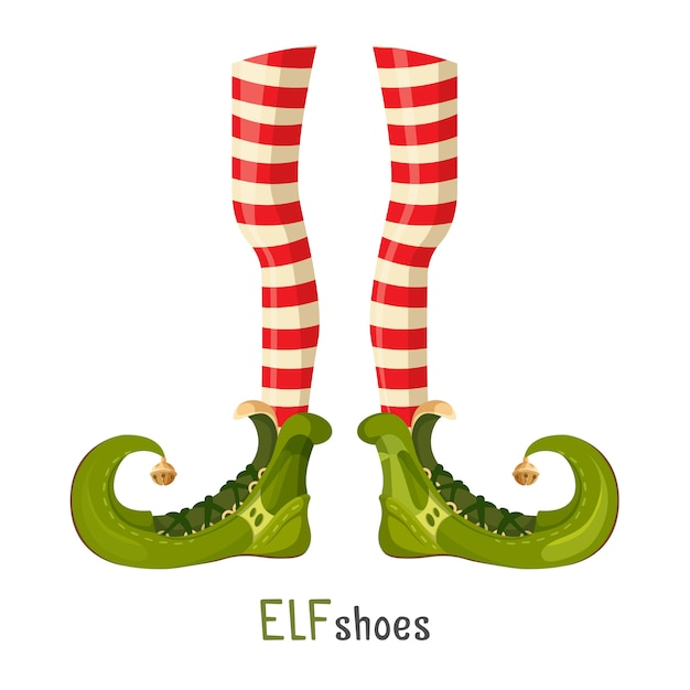 Elf green shoes Premium Vector