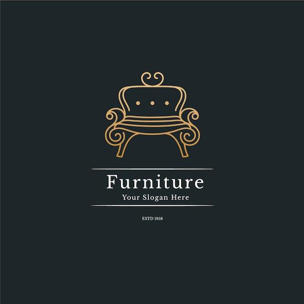 Elgant мебель логотип концепция Бесплатные векторы