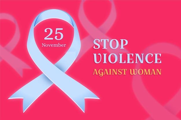 女性に対する暴力の排除-アウェアネスリボン Premiumベクター