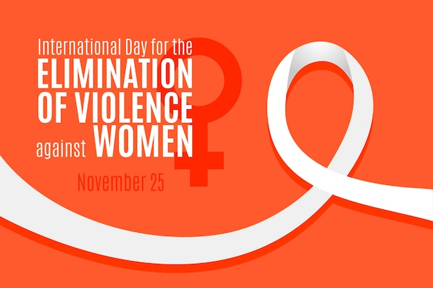 Elimination of violence against women - awareness ribbon Free Vector