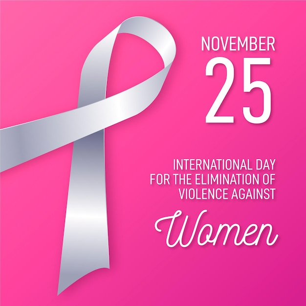 Elimination of violence against women Free Vector