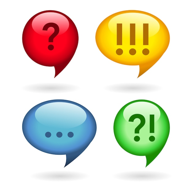 Ellipsis, exclamation, question marks Free Vector