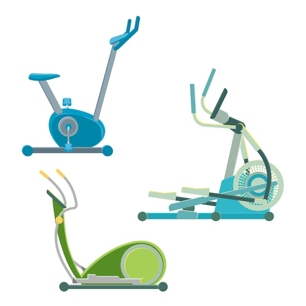 Elliptical training apparatuses Premium Vector