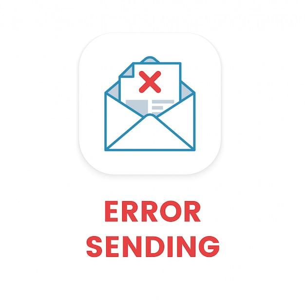 Email error sending Premium Vector