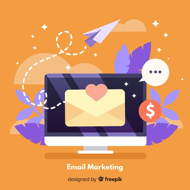 Email marketing background Free Vector