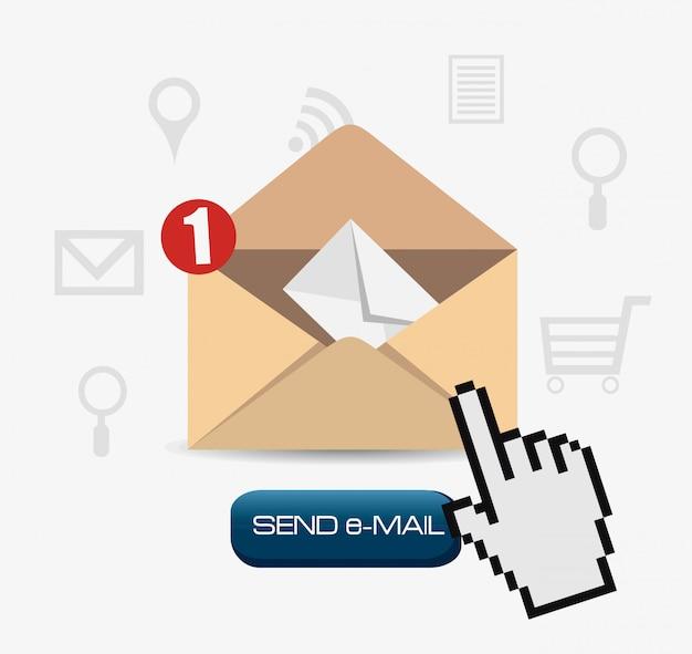 Email marketing design. Premium Vector