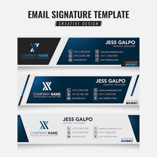 Email signature Premium Vector