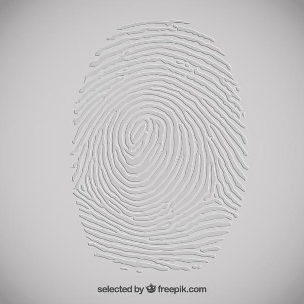 Embossed fingerprint Free Vector