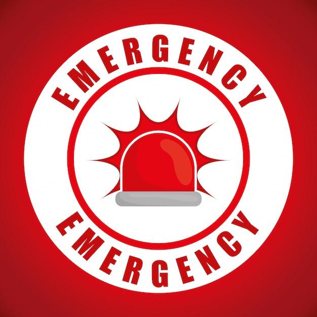 Emergency design illustration Vector | Premium Download