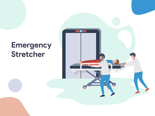 Emergency stretcher illustration Premium Vector