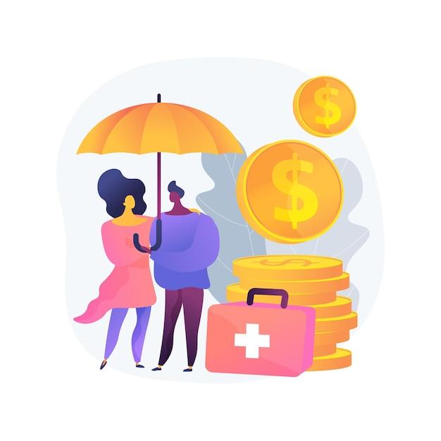 緊急支援基金の抽象的な概念のベクトル図。病気の人への支援、隔離された、または指示された自己隔離、政府の支援、緊急対応は抽象的な比喩に利益をもたらします。 無料ベクター