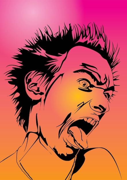 Emo Gothic Punk Metalhead Boy Free Vector